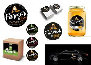 Immaisigraphics Farmer To Bee Logo Visuaalinen Ilme